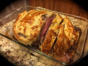 He made Beef Wellington for dinner!